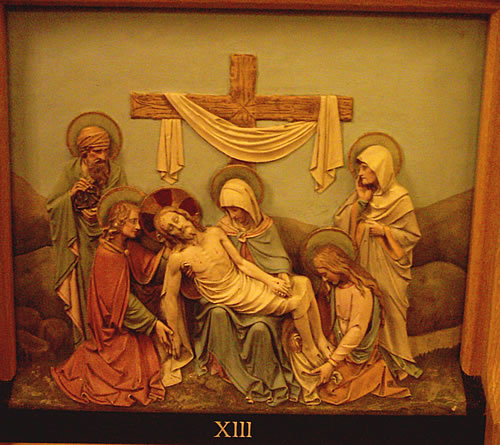 The Thirteenth Station - Jesus is taken down from the Cross